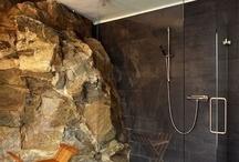 brick, stone & wood