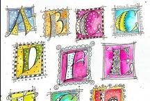 tekst alfabet en letters