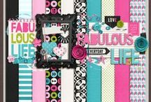 Digital Scrapbooking KITS / Digital Scrapbooking Kits & Things by ChrissyW Digital - layout kits, alphas, word art and more! / by ChrissyW Digital