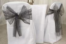 Dressing up Chairs / Chair covers and sashes are a great way to add to the overall color scheme.