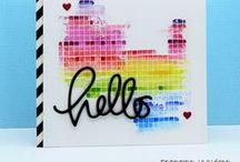 Cards rainbow colors