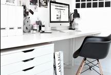 100% work @ home / Zo wordt werken thuis toch nog leuk.... Wat een fantastische werkplekken. En natuurlijk.... <3 Apple!