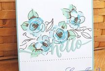 Cards ALTENEW / Painted Flowers - Painted Butterflys - Label Love &  Hennah Elements stampset van Altenew / by Aletta Heij