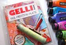 GELLI PLATE / creaties gemaakt m.b.v. de GELLI PLATE / by Aletta Heij