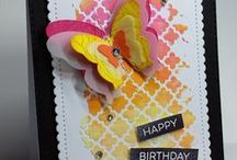 Cards embossing paste + techniques