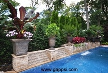 Water Features / In this board we display all Gappsi Landscapes water features and landscape creations. Gappsi landscape designer Rolando Adamovicz has over 20 years of experience in the landscape construction industry.