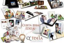 Q'Ideia / Q'Ideia surgiu com uma proposta de levar a solução em imagem para você! Flyers, Lay outs, Estampas, Restauração de fotos, Tratamento de Imagens, Fotolivros, Fotopresentes, Diagramação...