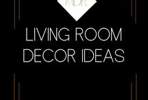 Living Room Decor / DIY, Decorating  and style project ideas for the living room