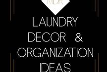 Laundry Ideas / Laundry room ideas, storage, organization, small, diy, on a budget,
