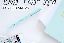 Blogging // For Beginners / Blogging for beginners, tips on how to start a blog, how to make money as a blogger, beginner blogging design, and more!