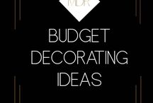 Budget Decorating / Decorate your home on a budget. Home decor budget ideas, DIY decor, budgeting for room rennovations, easy projects on a shoestring budget. Cheap decor makeovers. Before and after photos