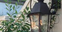 gas lanterns / lovely lanterns for seaside homes