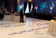 Vinyl Floors / Custom #vinyl #floors are the trendiest #decor feature for any #event. We specialize in creating #elegant dance floors for #weddings and gorgeous branded vinyl floors for #corporate events. Our floors can be created in a variety of shapes and colors.