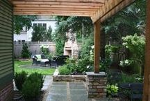 Beautified Backyard / It's all in the details... Ideas for adding interest to a small outdoor space.