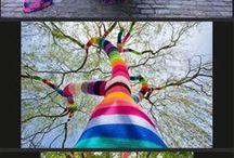 Guerrilla street art / Graffiti, yarn bombing, joyful color in the concrete jungle. / by Gretchen Borg