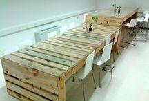 Tertius Creaciones / Muebles de Tertius Creaciones reallizados con madera y chapa.  La Cartonería y Tertius Creaciones se unen para realizar trabajos mixtos en los que se combinen materiales como el cartón, la madera y la chapa.