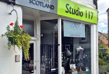Studio 117, Craft Town Scotland, West Kilbride, Ayrshire / Our studio and gift shop/gallery