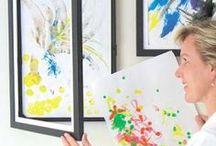 displaying kids artwork