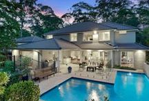 Wahroonga / Wahroonga is 22 kilometres north-west of the Sydney central business district, in the local government area of Ku-ring-gai Council and Hornsby Shire.