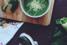 Food / broccoli, spinach, zucchini soup