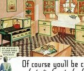 """1930s vintage kitchen / """"Just around the corner, there's a rainbow in the sky, So let's have another cup of coffee, and let's have another piece of pie."""" ~ Irving Berlin, 1932"""
