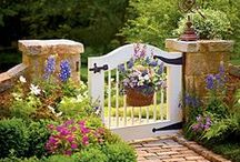 """Garden inspiration / """"Show me your garden and I shall tell you what you are."""" ~ Alfred Austin"""