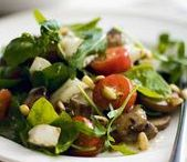 """Salads / """"Salad is never more appetizing than when served in a large wooden bowl."""" ~Dorothy Draper"""
