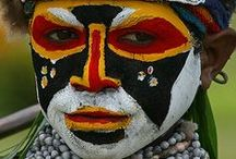 Maquillage traditionnel - Traditional make-up / Authentic face paint - Traditional face paint