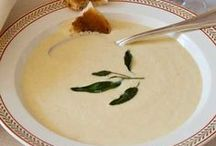 """Soups on! / """"Soup is cuisine's kindest course.  It breathes reassurance; it steams consolation; after a weary day it promotes sociability, as the five o'clock cup of tea or the cocktail hour."""" ~ Louis P. De Gouy, 'The Soup Book' (1949)"""