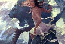 Concept art and digital illustration inspiration / Fantasy, digital paintings, scifi