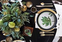 center that piece / We are loving these trendy table settings! Hopefully they bring you a little inspiration! #blancdenver
