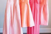 pink party / pink party at blanc denver! we would love to see these shades of blush, mauve, rose and peach in an event here!
