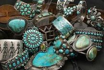 Turquoise/Silver~Watches~Costume Jewelry / by Susan Hutchens Steel