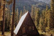 cabins + cottages / by Audrey Modrey