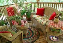 PORCHES / Small, big, screened even outdoor living spaces.