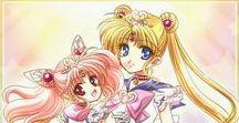 Usagi-Sailor moon and Chibiusa-chibi moon
