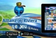 Allianz Riviera / funny advergame for iOS and Android platforms to discover the Allianz Riviera, the new generation and eco-friendly stadium of Nice