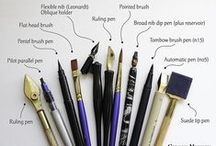 TOOLS & SUPPLIES / DIY Tools, crochet needles, knitting needles, glue guns, pencils, markers etc.