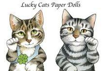 Paper cat dolls