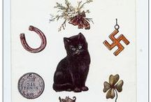Cat Good luck cards