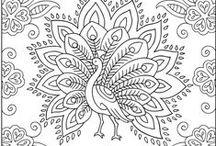 Adult colouring, doodles & Zentangles