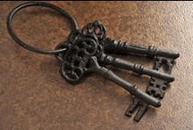 Keys to My Hearts / Love the shape of antique keys!!  And what goes better with them that unique hearts! / by Jan Arnold