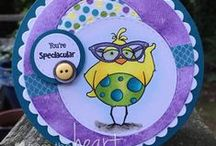 Birdbrain Chick™ Cards / Humorous handmade cards using From the Heart Stamps Birdbrain™ images.