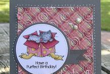 Cards for Animal Lovers / Handmade card design ideas using From the Heart Stamps with an animal theme.