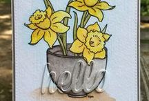 Pretty Florals / Handmade cards using From the Heart Stamps flower images.