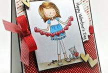 Handmade Valentines / Valentine Card ideas with From the Heart Stamps.