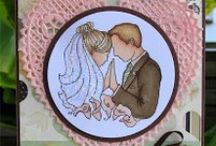 Wedding and Anniversary Card Ideas / Handmade cards of love with From the Heart Stamps