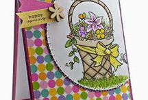 Creative Stitching on Cards / Machine stitching on handmade cards with From the Heart Stamps.