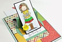 Interactive Cards and Special Folds / Special motion handmade cards or special folds with From the Heart Stamps.