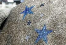 Glamourati glitter quartermarking and glitter tattoos for horses